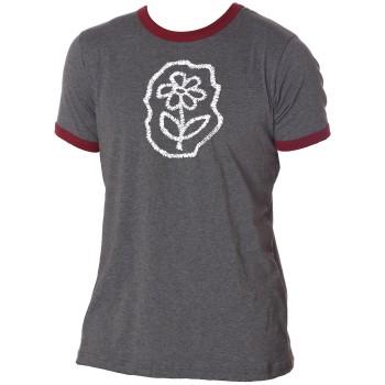 Baco scribble flower ringer t-shirt